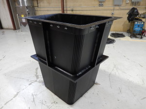 Fabricated TIVAR Hopper