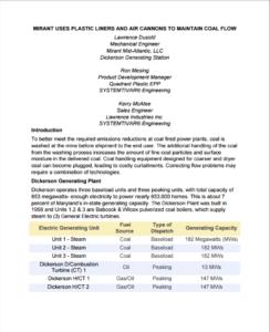 Mirant Uses Plastic Liners PDF
